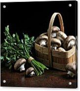 Still Life With Mushrooms Acrylic Print
