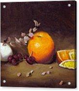 Still Life With Orange And Egg Acrylic Print