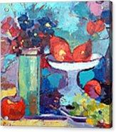 Still Life With Pears Acrylic Print