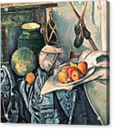 Still Life With Pitcher And Aubergines Oil On Canvas Acrylic Print