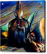 Still Life With Pumpkin And Tulips Acrylic Print
