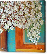 Still Life With White Flowers Acrylic Print