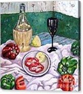 Wine And Capsicum Acrylic Print