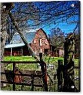 Still Useful Rustic Red Barn Art Oconee County Acrylic Print