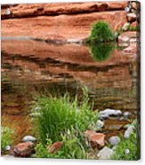 Still Waters At Slide Rock Acrylic Print