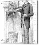 Stock Ticker, 1885 Acrylic Print