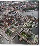 Stockholm Aerial View Acrylic Print by Lars Ruecker