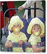 Stockholm City Center Twins Acrylic Print