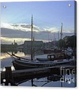 Stockholm City Harbor Dwan Acrylic Print