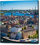 Stockholm From Above Acrylic Print