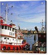 Stockholm Harbor Ships Acrylic Print