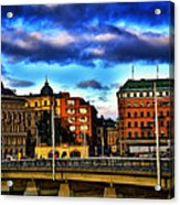 Stockholm In Color Acrylic Print