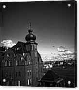 Stockholm In Dark Black And White Acrylic Print