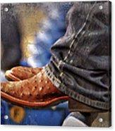 Stockshow Boots IIi Acrylic Print by Joan Carroll