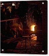 Stoking The Sauna Acrylic Print