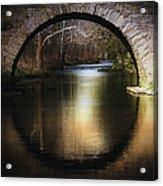 Stone Arch Bridge - Brick Texture Acrylic Print