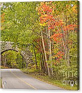 Stone Arch Bridge In Acadia National Park Acrylic Print