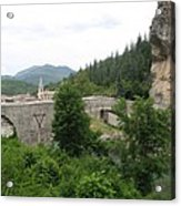 Stone Arch Bridge Over River Verdon Acrylic Print