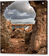 A Natural Stone Arch In North Coast Of Minorca Appears Like A Pass To One Thousand And One Night  Acrylic Print