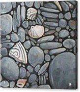 Stone Beach Keepsake Rocky Beach Shells And Stones Acrylic Print