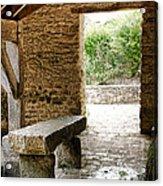 Stone Bench Acrylic Print