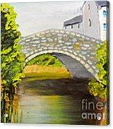 Stone Bridge At Burrowford Uk Acrylic Print
