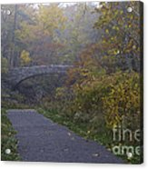 Stone Bridge In Autumn 3 Acrylic Print
