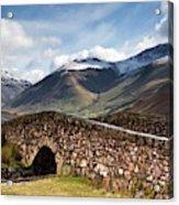 Stone Bridge In Mountain Landscape Acrylic Print