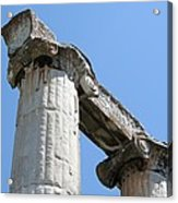 Stone Carved Columns At The Temple Of Aphrodite  Acrylic Print