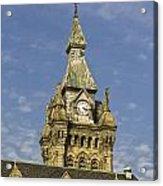 Stone Clock Tower Acrylic Print