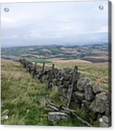 Old Dry Stacked Stone Fence Of Scotland Acrylic Print