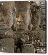 Stone Figures Cambodia Acrylic Print