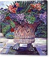 Stone Garden Ornament Acrylic Print by David Lloyd Glover