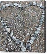 Stone Heart Acrylic Print