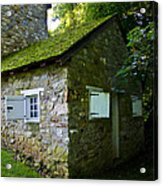 Stone House With Mossy Roof Acrylic Print