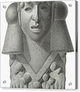 Stone Idol Of The Rain God Cocijo Acrylic Print