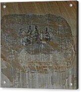 Stone Mountain Mural In Brown Acrylic Print