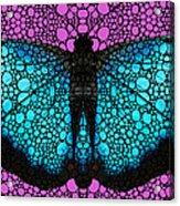 Stone Rock'd Butterfly 2 By Sharon Cummings Acrylic Print