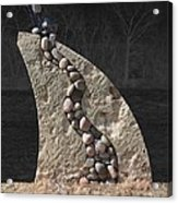 Stone Sculpture Before The Forest Acrylic Print