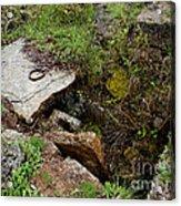 Stone Slid Away Acrylic Print
