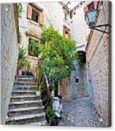 Stone Streets Of Old Trogir Acrylic Print