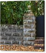 Stone Wall And Gate Acrylic Print