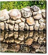 Stone Wall Reflection Acrylic Print