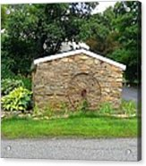 Stone Well Cover And Wheel Acrylic Print