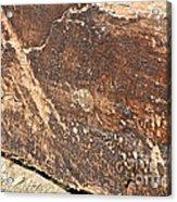 Stone Written Acrylic Print