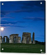 Stonehenge At Night Acrylic Print