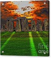 Stonehenge At Solstice Acrylic Print by Skye Ryan-Evans