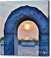 Sunrise Through The Arch - Rehoboth Beach Delaware Acrylic Print