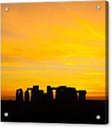 Stonehenge Sunset Acrylic Print