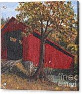 Stonelick Williams Corner Covered Bridge Clermont County Ohio 2 Acrylic Print